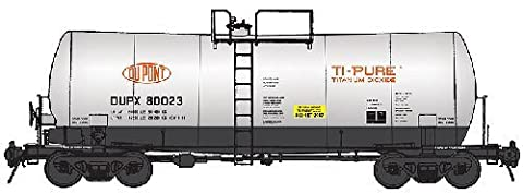 WalthersProto HO 40' UTLX 16,000-Gallon Funnel-Flow Tank Car - Ready to Run - DuPont DUPX #80023 by
