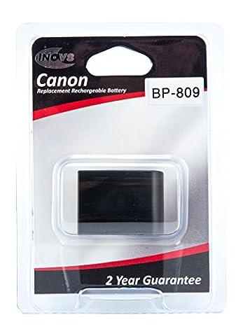 Inov8 Replacement Lithium Digital Camera Battery R-C-B Canon BP-809, BP 809, BP809, 800mAh 7.4V (Pack of