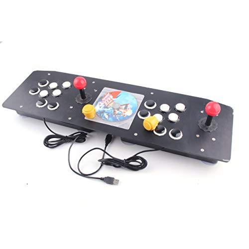 Heraihe Ergonomisches Design Doppel Arcade Stick Videospiel Joystick Controller Gamepad Für Windows PC Viel Spaß beim Spielen