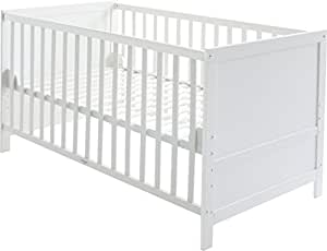 roba kombi kinderbett 70x140 cm babybett holz wei 3 fach h henverstellbar baby bzw. Black Bedroom Furniture Sets. Home Design Ideas