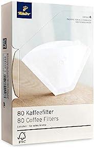 Tchibo Coffee Filter Paper - Size 4, 80 Pieces, White