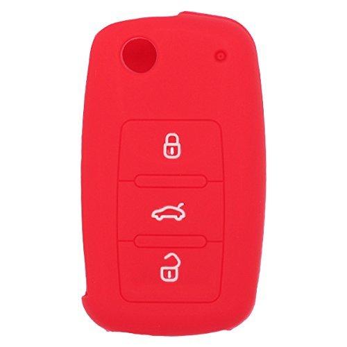 fassport-silicone-cover-skin-jacket-for-volkswagen-skoda-seat-3-button-flip-remote-key-cv2801-red