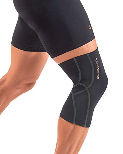 96a96ad3a0 Tommie Copper Performance Knee Sleeve 2.0, Black with Tc Tonal Stitch,  Medium