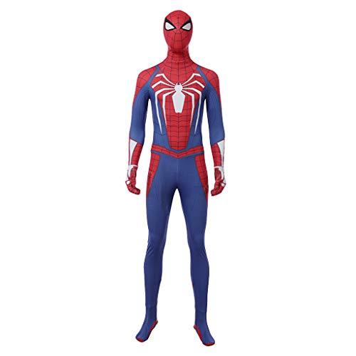 Spiderman Kostüm Verkauf Für - nihiug Avengers 3 Spider-Man Strumpfhose COS Steel Battlesuits Halloween Kostüme Herrenbekleidung,Blue-2XS(153to157)