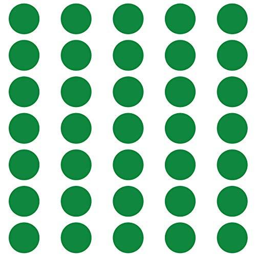 Grünes Glas-türen (kleb-Drauf® | 35 Punkte | Grün - matt | Wandtattoo Wandaufkleber Wandsticker Aufkleber Sticker | Wohnzimmer Schlafzimmer Kinderzimmer Küche Bad | Deko Wände Glas Fenster Tür Fliese)