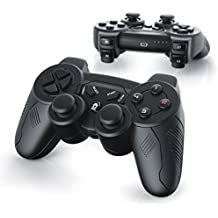 CSL - 2 x Wireless Gamepads per Playstation 3 / PS3 | Dual Vibration - Joypad Controller | nero