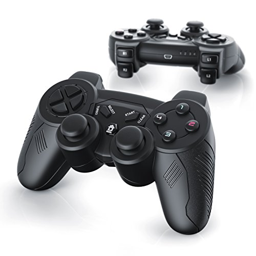 CSL - 2 x Manettes de jeu pour PlayStation 3 | sans fil / wireless | Dual Vibration compris | Manette Joypad | Plug-and-Play | noir
