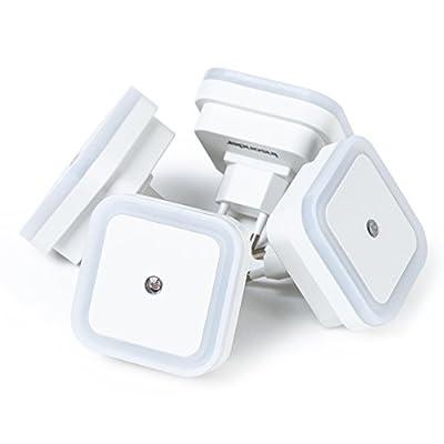 LED LED Steckdosenlicht Kinder Nachtlicht Baby 4 Lampen Pack für Kinderzimmer und Schlafzimmer – 0,5 W Stromsparend Orientierungslicht für Gang und Keller, Stimmungslicht, Nachtlampe, Eurostecker - Mini Stimmung Lampe…