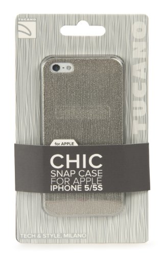 Tucano IPH5CH-CP Chic Case für Apple iPhone 5/5s hellrosa Silber