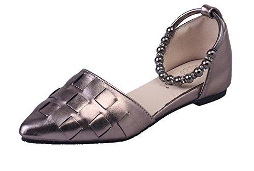 pengweiI pattini piani hanno indicato i pattini piani dei sandali di modo dell'inarcamento della parola delle signore 3