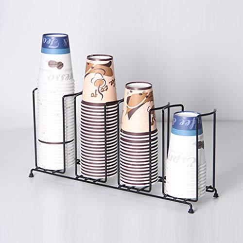 Dq123 Wohnkultur Edelstahl Kaffee Wasser Wegwerfpapierschalen-Deckel Dispensing Inhaber Dispenser Aufsatz- Organizer Schwarz