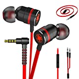 Plextone Gaming Earphones, RichBass in-Ear Headphones with L Sharp Plug & Extension Cable