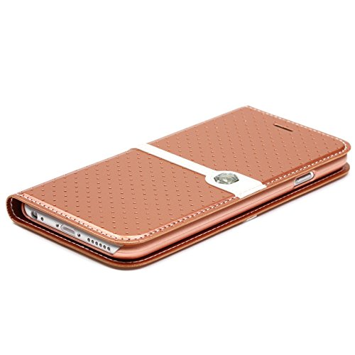 Original UrCover® Nillkin ICE Series Flip Tasche für das Apple iPhone 6 Plus ( 5.5 Zoll) Luxus Schutzhülle Zubehör Hülle Schale Displayfolie Braun Braun