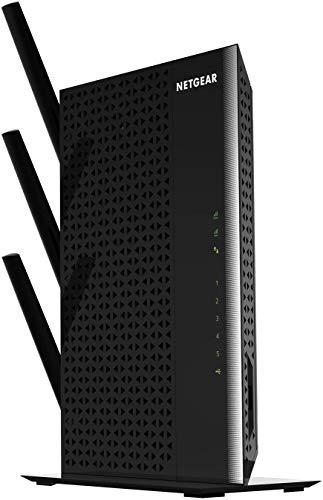Netgear WLAN Mesh EX7000-100PES AC1900 Dual Band Wireless Signal-Verstärker & Booster (Abdeckung von 3 bis 4 Räumen & 30 Geräten, Geschwindigkeit bis zu 1900 MBit/s, smartes Mesh WLAN-Roaming) schwarz