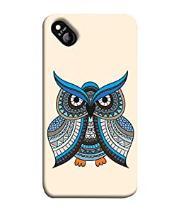 Micromax Bolt D303 Back Cover Multicolor Owl Pink Background Design From FUSON
