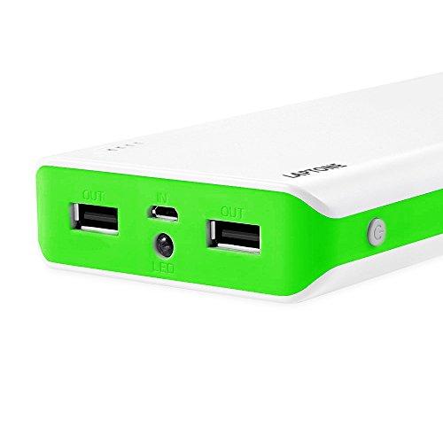 Laptone 13200mAh Power bank Batería externa portátil ultra delgada, Energía móvil, 2 puertos de Cargador 5V/1A,5V/2.1A para Smartphones iPhone 6s plus / 6 plus / 6s / 6 / 5s / 5, iPad, iPod, Samsung, Tablet PC, HTC, MP3, MP4, PSP, GoPro, GPS y otros dispositivos USB