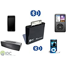 IDC © i-BLU Bluetooth iPod transmisor - convierte tu iPod Bluetooth al corriente su música inalámbricamente a su altavoz o auriculares. Funciona en todos los iPods no Bluetooth incluyendo iPod Classic, iPod Nano, iPod Touch, Ipod Shuffle, Ipod Mini, Ipod Video. Compra de una empresa de Reino Unido especializada (negro)