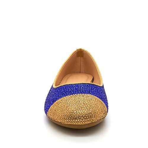 London Calzature Kassia, Ballerine Da Donna Blue