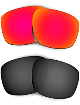 Hkuco Plus Replacement Lenses For Oakley Sliver - 2 pair Combo Pack