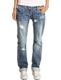 Bestyledberlin Damen Jeans Hosen, Baggyjeans, Damen Boyfriendjeans, Hüftjeans j1z