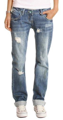 Bestyledberlin Damen Jeans Hosen, Baggyjeans, Damen Boyfriendjeans, Hüftjeans j1z 40/L Damen Baggy Jeans