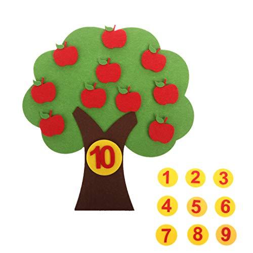 Keepart Apfelbaum Spiel Digitale Lehre Spielzeug Montessori Pädagogisches Spielzeug Vlies Puzzle Kreatives Spielzeug Kindergarten Kinder Mathe Spielzeug - 3-dollar-spiele