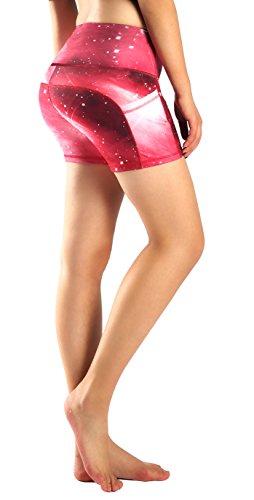 Munvot Yoga Leggings Damen mit Taschen Sporthose Yogahose Tights Fitnesshose Sport Leggings für Damen - Mars(Kurz)/S (DE36-38)