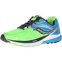 SauconyRide 9 - Zapatillas de Entrenamiento Hombre, Color Verde, Talla 43