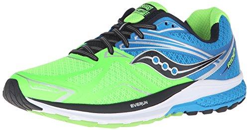 SauconyRide 9 - Scarpe Running Uomo , Verde (Grün (Grün/Blau/Schwarz)), 42