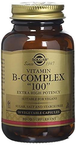 Solgar Extra High Potency Vitamin B-Complex Vegetable Capsules - 50 Capsules