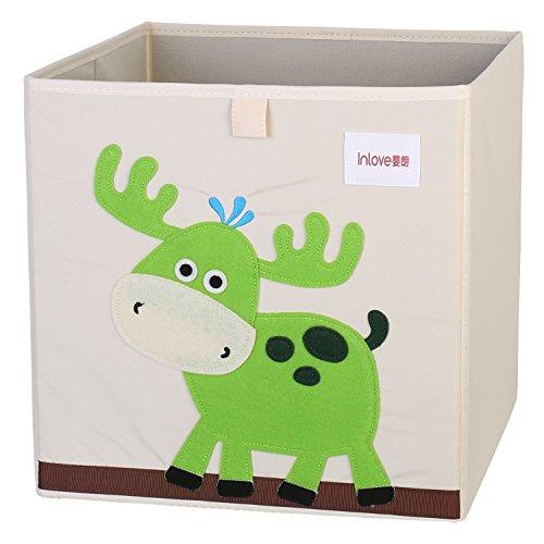 Cartoon Aufbewahrungswürfel Leinwand faltbare Spielzeug Aufbewahrungsbox für Kinder von ELLEMOI (Elch)