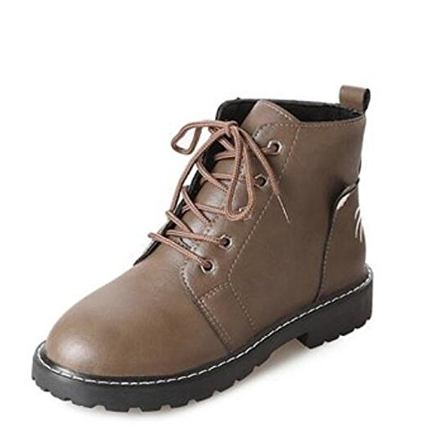 Chaussures automne à bout rond marron femme GBF6l94o9w