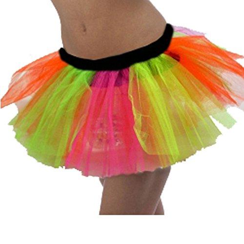 Juppe Tutu 3 Couches Multicolores Gay Pride Accessoire Déguisement - X-Large