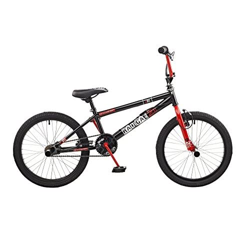 41rgwee7doL. SS500  - Rooster Kids' Radical Bike, Black/Red, Medium