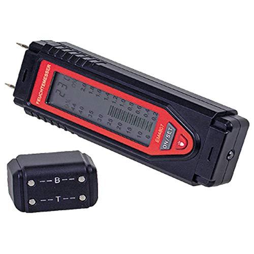 Bau- und Holzfeuchtemessgerät mit großem Display, Kalibrierungsüberprüfung, robustes Gehäuse, mit LED-Licht