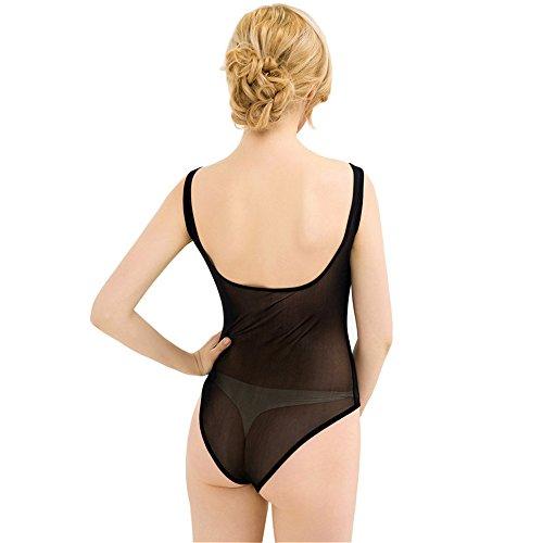 Damen Dessous, sexy Dessous, Damen Sexy Spitze Siam, meine Damen Strumpfhose transparente Gaze Unterwäsche Black