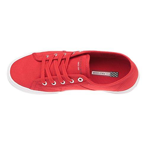 U.S. POLO Scarpe Basse Donna Chiusura Con Lacci, Stile Sneaker - mod. SOLAD4188S7-C1 Rosso