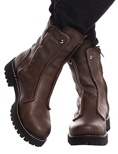 LEIF NELSON Herren Schuhe Klassische Stiefel Freizeitschuhe Boots Elegante Winterschuhe Männer Sneakers LN155;45, Braun