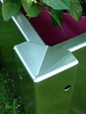 Blumenkasten, Pflanzkübel aus Edelstahl PK 40 (50 ltr) von TGA GmbH - Du und dein Garten