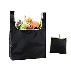Wiederverwendbare Einkaufstasche, schwarze faltbare tragbare Einkaufstasche des Lebensmittelgeschäft-Oxford-Stoff-Supermarkt-Speicher-Beutels