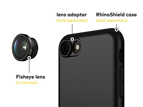 RhinoShield Add-On Lens Adapter for RhinoShield Cases for iPhone 8 / 7 [only for RhinoShield Mod, RhinoShield PlayProof and RhinoShield SolidSuit cases] - Lenses not included Fish Eye