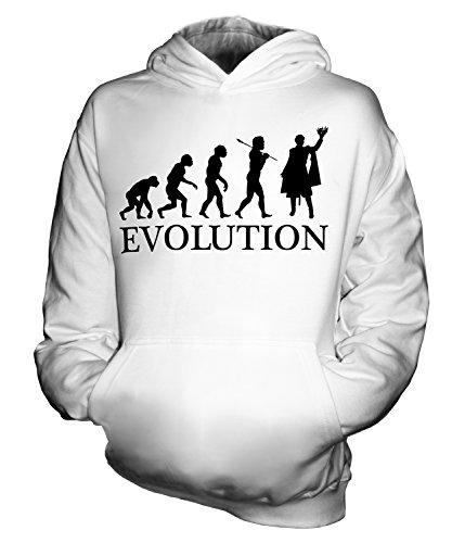 Candymix Shakespeare König Evolution des Menschen Unisex Kinder Jungen/Mädchen Kapuzenpullover, Größe 5-6 Jahre, Farbe ()