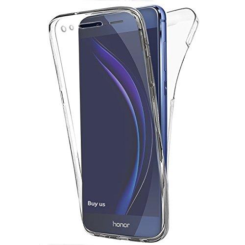 Coque Huawei Honor 8, Etui Ultra Mince Housse Silicone Transparent pour Honor 8 Coque de Protection en TPU avec Absorption de Choc Bumper et Anti-Scratch + Stylet + 3 Films OFFERTS