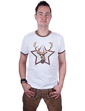 Almwerk Herren T-Shirt Platzhirsch weiss