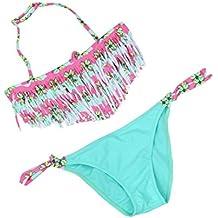 OverDose 1Set Bebé niña verano traje de baño borla niños Split Nylon traje de baño bikini conjunto