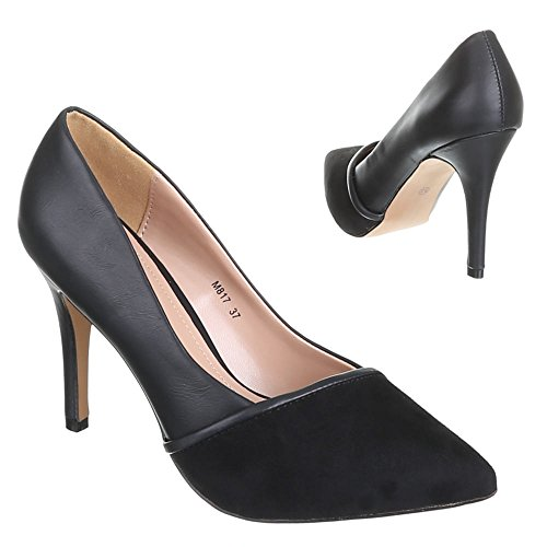 Damen Schuhe, M817, PUMPS Schwarz