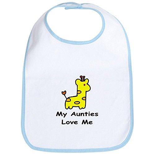 CafePress - My Aunties Love Me Bib - Cute Cloth Baby Bib, Toddler Bib