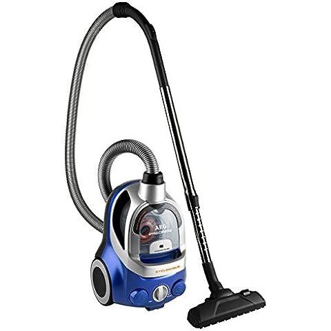 AEG ErgoEasy - Aspiradora sin bolsa, compacta, 1550 W, color azul