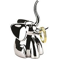 Umbra Zoola elephant. Porte-bagues éléphant en métal chromé. Dimension de chacun environ 4.5x4.5x7.6cm