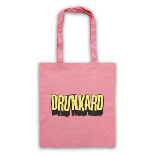 Drunkard borsa, scritta con Slogan divertente Rosa